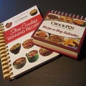 2 Slow Cooker Crock Pot Cookbooks